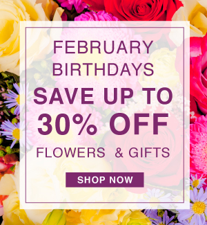 February Birthdays Save up to 30% Off