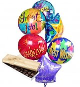 Balloons & Chocolate: Congratulations Balloons & Chocolate-6 Mylar