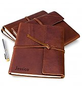 Personalized Keepsake Gifts: Embossed Fine Leather Journal