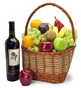 Wine & Fruit Baskets: The Anniversary California Classic