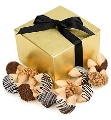 Cakes and Desserts: One Dozen Chocolate Dipped Fortune Cookies with Themed Messages