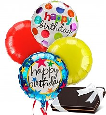 Balloons & Chocolate: Birthday Balloons & Chocolates-4 Mylar