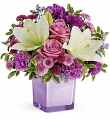 Roses: Pleasing Purple Bouquet