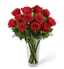 Funeral Flowers: Loving Memories Red Rose Bouquet