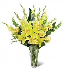 Funeral Flowers: Glowing Ray Bouquet