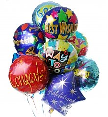 Balloons: Congratulations Balloon Bouquet-12 Mylar