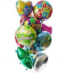 Balloons: Balloon Bouquet-12 Mylar