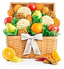 Fruit Baskets: Fresh Fruit and Cookies Basket
